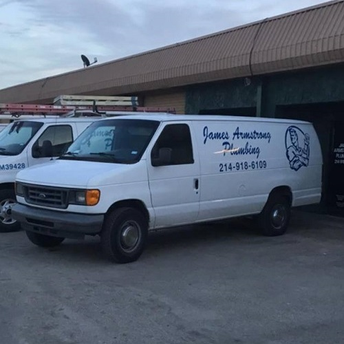 A James Armstrong Plumbing Service Truck